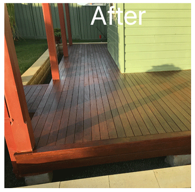 Pressure Cleaning and Coating Timber Decks